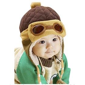 Gorro de piloto aviador bebé