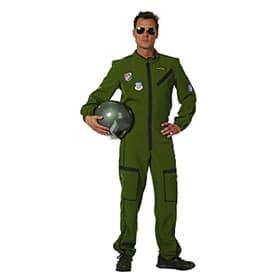 Mono de piloto de jet verde