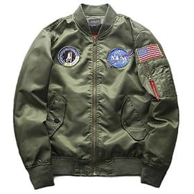 Bomber piloto parches nasa