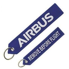 Llavero de Airbus bordado