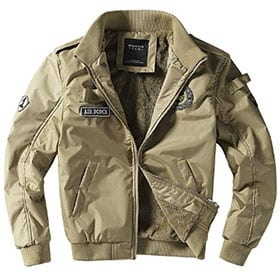 bomber fuerza aerea color beige