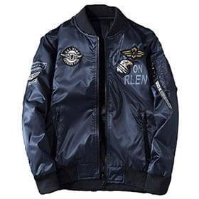 bomber color azul marino con parche águila