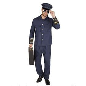 Disfraz de piloto azul sin insignias