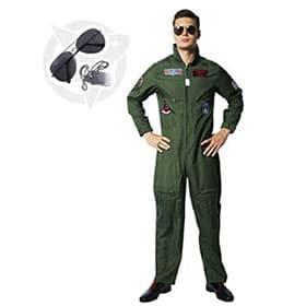 Disfraz de Top Gun con gafas y chapa