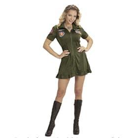 Disfraz piloto jet de combate mujer