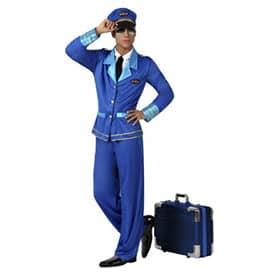 Disfraz de piloto azul