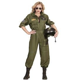 Disfraz de piloto de combate mujer