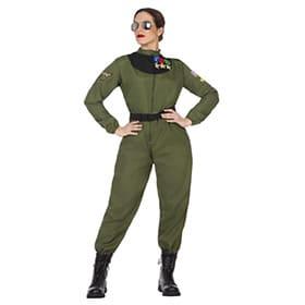 Disfraz de piloto militar mujer