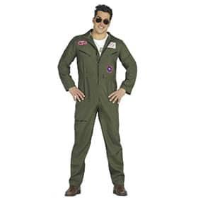 mono de piloto verde