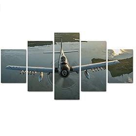 panel avion de guerra