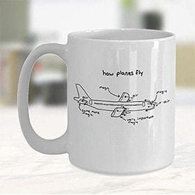 taza por que vuelan los aviones