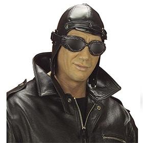 gorro de aviador de piel sintetica