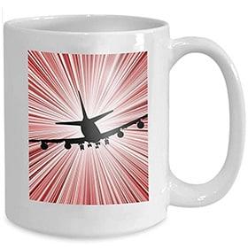 Taza de avion en velocidad