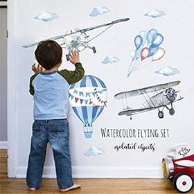 vinilo de pared de aviones