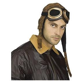 gorra de aviador con gafas