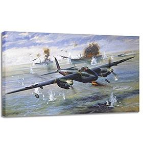 Lienzo aviones de guerra