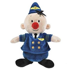 Muñeco piloto de peluche