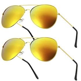 pack de 2 gafas de disfraz de piloto amarillas