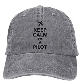 gorra de piloto casual color gris