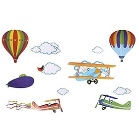 pegatinas aviones infantiles