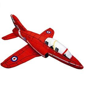 avión de combate de peluche