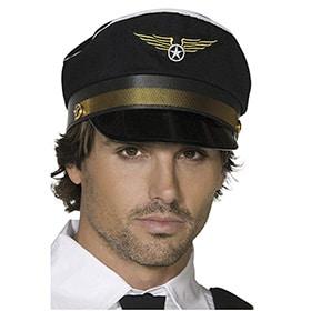 gorra piloto color negro