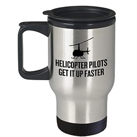 Taza de piloto de helicoptero