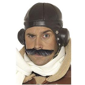 gorro de piloto vintage marron