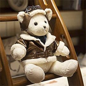 oso de peluche aviador